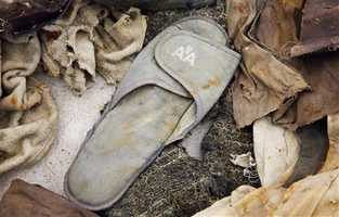 An American Airlines slipper, an artifact from the Sept. 11, 2001 attacks, is part of the National September 11 Memorial Museum.