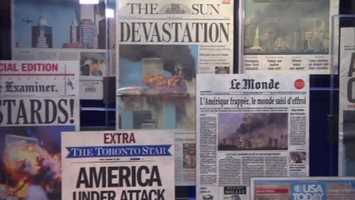 Front pages of newspapers from around the world.