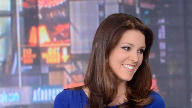 Emily Riemer on GMA set