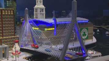 The TD Garden and Zakim Bridge