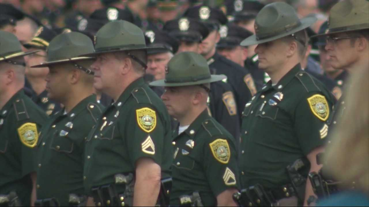 First responders line up to honor fallen officer