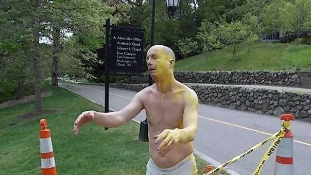 Wellesley sleepwalker statue
