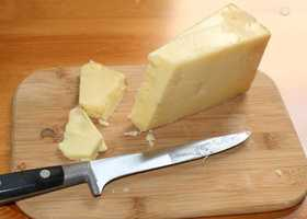 We eat 32.8 pounds of cheese a year, according to the Census Bureau.