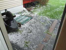 Large hail storm around 3:15 today (27 May 14)