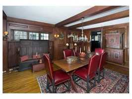 Outstanding detail is found throughout including chestnut paneling.