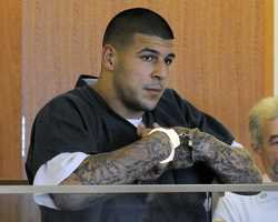 Hernandez also stands charged with the murders of Daniel Jorge Correia de Abreu, 29, and Safiro Teixeira Furtado, 28 in Boston's South End on July 16, 2012. Hernandez was reportedly upset after one of the victims spilled a drink on him in a Boston nightclub.