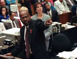 Deputy District Attorney Christopher A. Darden, an African-American prosecutor with great experience in murder trials, was Clark's co-counsel. Darden argued that Simpson killed his ex-wife in a jealous rage.