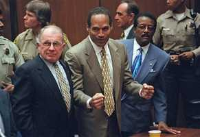At 10 a.m. on October 3, 1995, the jury returned a verdict of not guilty.  An estimated 100 million people worldwide stopped what they were doing to watch or listen to the verdict.