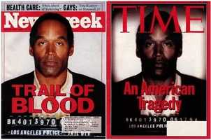 "On June 27, 1994, Time published a cover story ""An American Tragedy"" with a mugshot of O. J. Simpson on the cover. The Time photo was darker than the original, as shown on a Newsweek cover released at the same time. Time admitted it had employed photo manipulation to darken the photo and seemingly make Simpson appear more menacing. The publication of the cover photo drew widespread accusation of racism by Time, which later apologized."