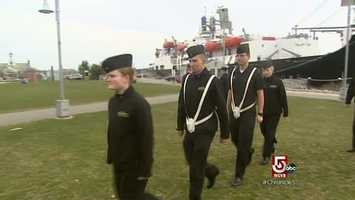 Though students wear uniforms, and the lifestyle is regimental, this is a state school.