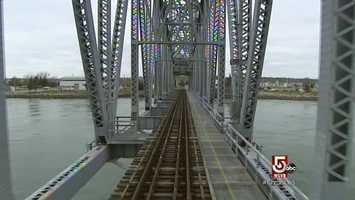 The train does operate over the railroad bridge into Buzzards Bay.