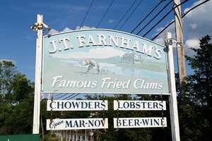 "But there's more than one great place in Essex to find outstanding chowder. J.T. Farnham's also claims to have ""famous fried clams."""