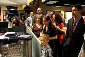 The scholar winners and their families also got a tour of the WCVB newsroom.