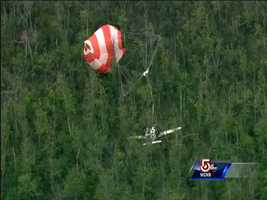 A small plane crashed in a wooded area in Burlington Wednesday afternoon.