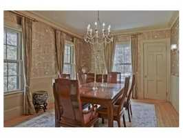 A formal dining area.