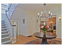 This impressive 14 room residence is located in the Estate area of Brookline.