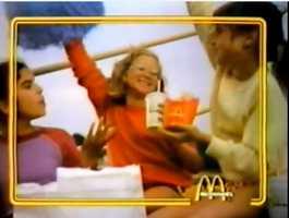 """You deserve a break today."" McDonald's"