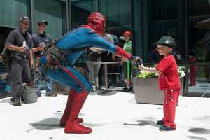 In a super-heroic sequel to one of our favorite summer traditions, the amazing Spider-Man returned to Boston Children's Hospital