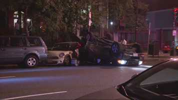 Two pedestrians were killed and two others were hurt Saturday night in a multi-vehicle crash on Beacon Street in the Back Bay.
