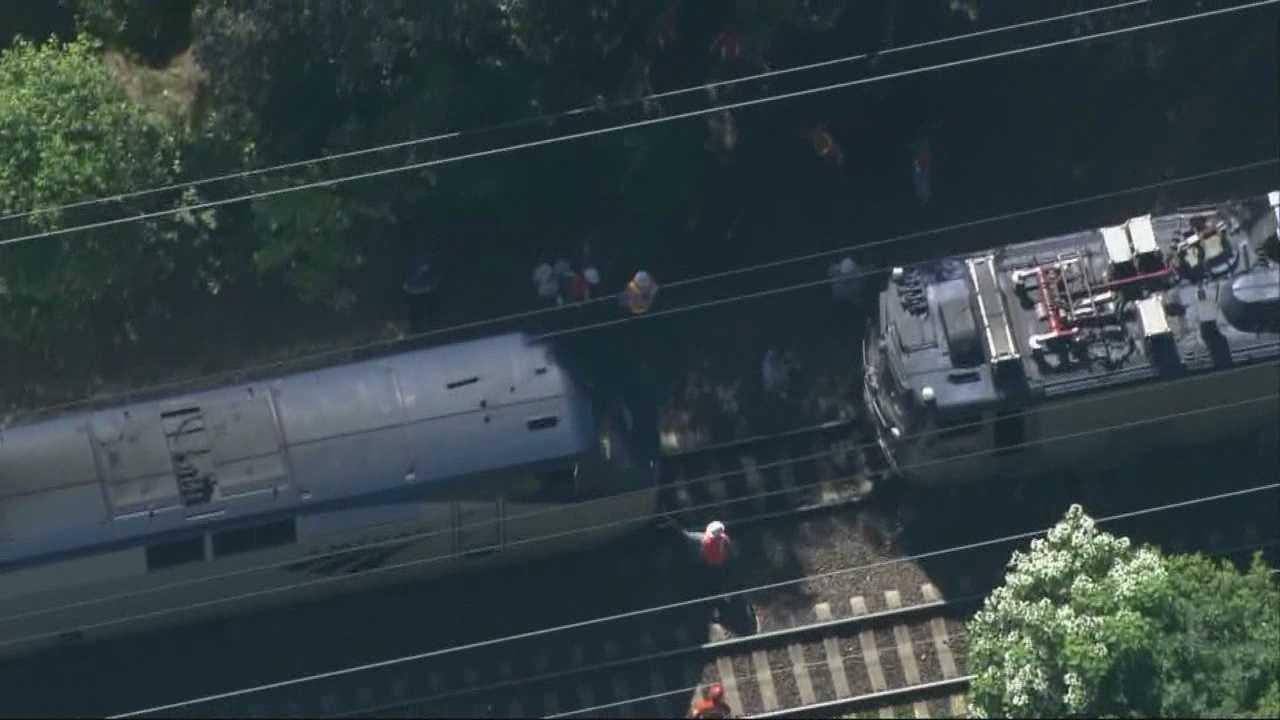 3 killed when Amtrak train slams truck