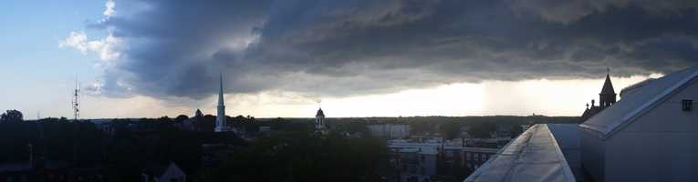 Storm clouds over Beverly.