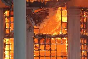 It was unclear if anyone was injured in the fire.