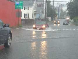 Over 4 inches of rain fell in parts of Southeast Massachusetts Friday from Arthur, causing widespread flash flooding across the area.