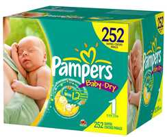 Warehouse clubs sell monster boxes of diapers at decent prices. You can find good deals on diapers at drugstores, too, but only when they have great sales