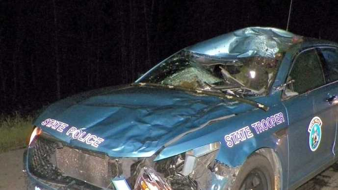 Maine State Trooper Collides with Moose 0709.jpg
