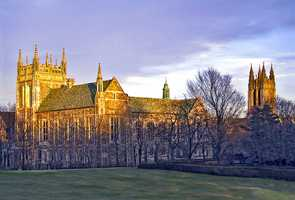 #17 Boston College. Tuition and fees totaled $43,878 for the 2012-13 school year, according the the U.S. Department of Education.