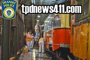 Crews clean the vandalism off 2 historic subway cars that were targeted in January.