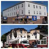 Before and after the fire
