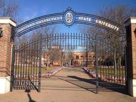 #10 Western Connecticut State University $8,440 for tuition and fees for the 2012-13 academic year according to the U.S. Department of Education.