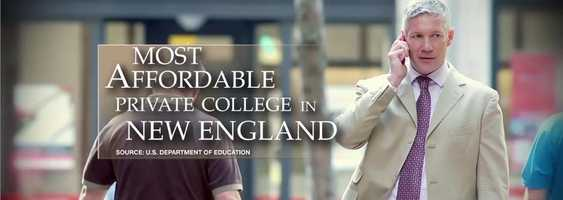 #3 New England College of Business and Finance (Massachusetts) $7,875 for tuition and fees for the 2012-13 academic year according to the U.S. Department of Education.