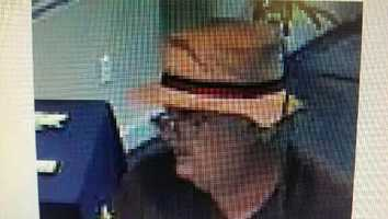 Robert Augustine was first seen allegedly robbing Eastern Bank on at 742 County St. around 2:10 p.m., where he displayed a note demanding money, according to Taunton police.