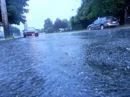 Rain falls in Fall River