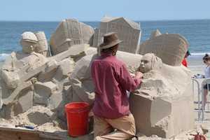 Abe Waterman working on Revere Beach.