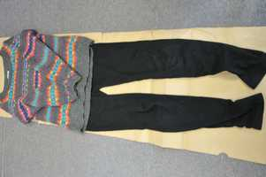 A photo of women's clothing was also released. Investigators wanted to be contacted by anyone who may have seen a woman wearing it.