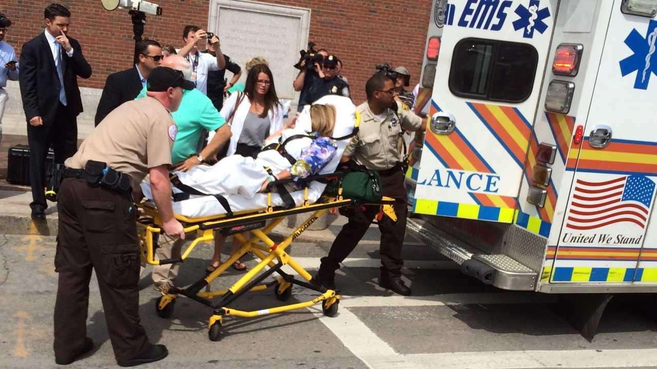 O'Brien's wife on stretcher 7.24
