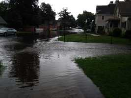 Flooding in Stoneham.