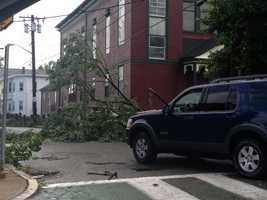 Damage in Revere.