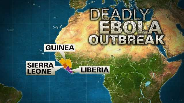 Ebola outbreak graphic