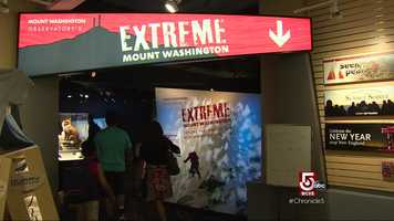 "The Summit Museum, run by the Mount Washington Observatory, re-opened as an all new-exhibit, ""Extreme Mt. Washington."""