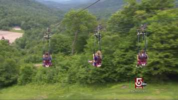 Feeling brave? Why not take a zip-line down a mountain!