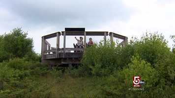 The Crotched Mountain Rehab Center built a trail that climbs 400 feet to the top of a mountain.