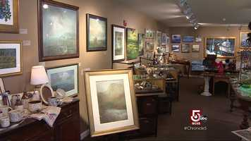 Studios are filled with dozens of pieces of artwork that capture the beauty of the landscape.