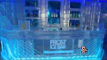 Frost Ice Bar is the world's largest year-round permanent ice bar.
