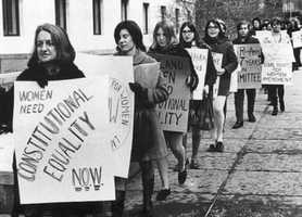 5. Experience equality in the workplace: Kennedy's Commission on the Status of Women produced a report in 1963 that revealed, among other things, that women earned 59 cents for every dollar that men earned.