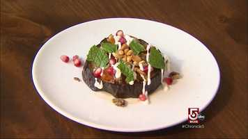 Among the signature dishes: Pomegranate-glazed eggplant