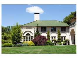 The home sits on 12 acres of land.